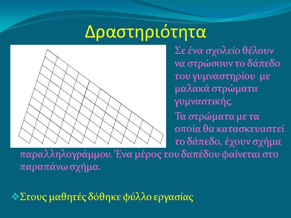 Επιδιωκόμενοι στόχοι δραστηριότητας Θεώρημα Ι Το ευθύγραμμο τμήμα που ενώνει τα μέσα των δύο πλευρών τριγώνου είναι παράλληλο προς την τρίτη πλευρά και ίσο με το μισό της.