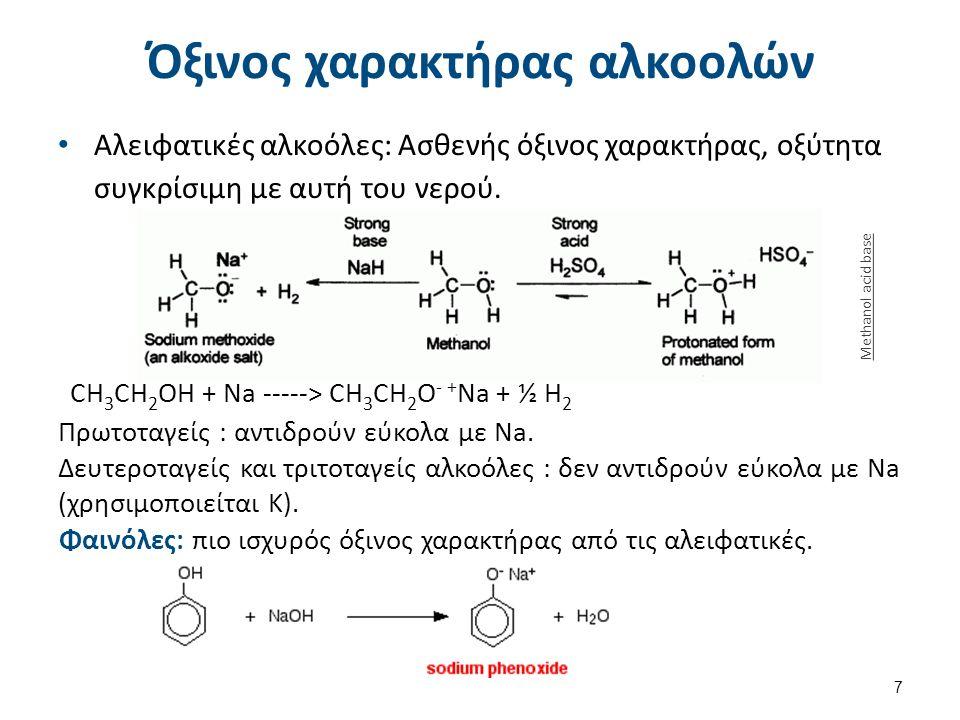 Μέθοδοι σύνθεσης αλκοολών (1/3) Α.Προσθήκη νερού σε αλκένιο  Η απόδοση της αντίδρασης είναι ~ 5%.
