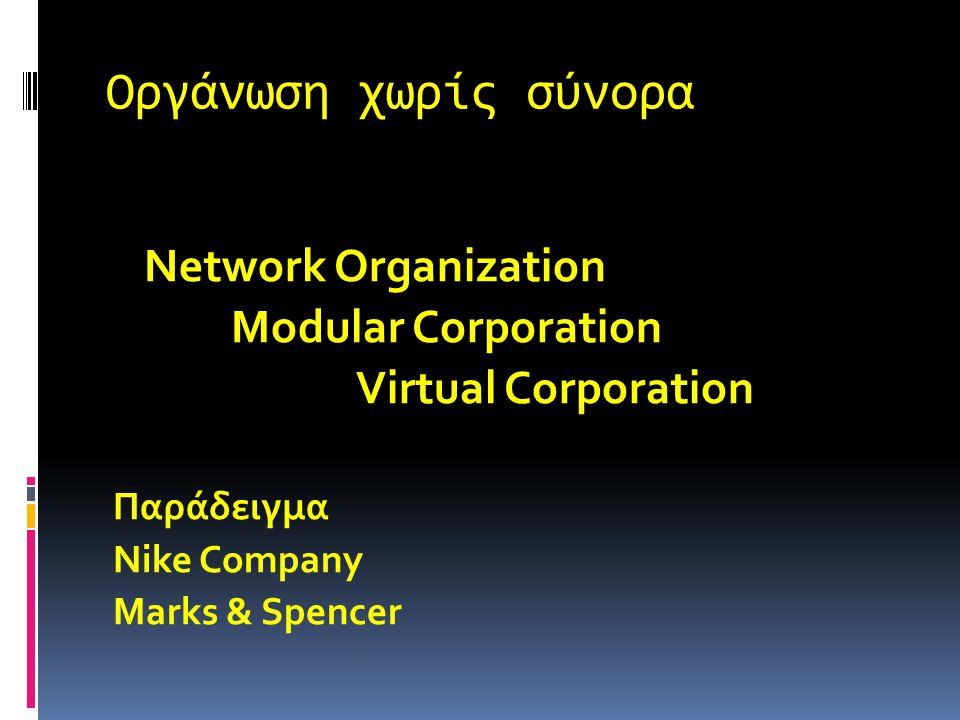 Οργάνωση χωρίς σύνορα Είναι μια οργάνωση της οποίας ο σχεδιασμός δεν ορίζεται ή περιορίζεται από τα όρια που επιβάλλει μια προκαθορισμένη δομή