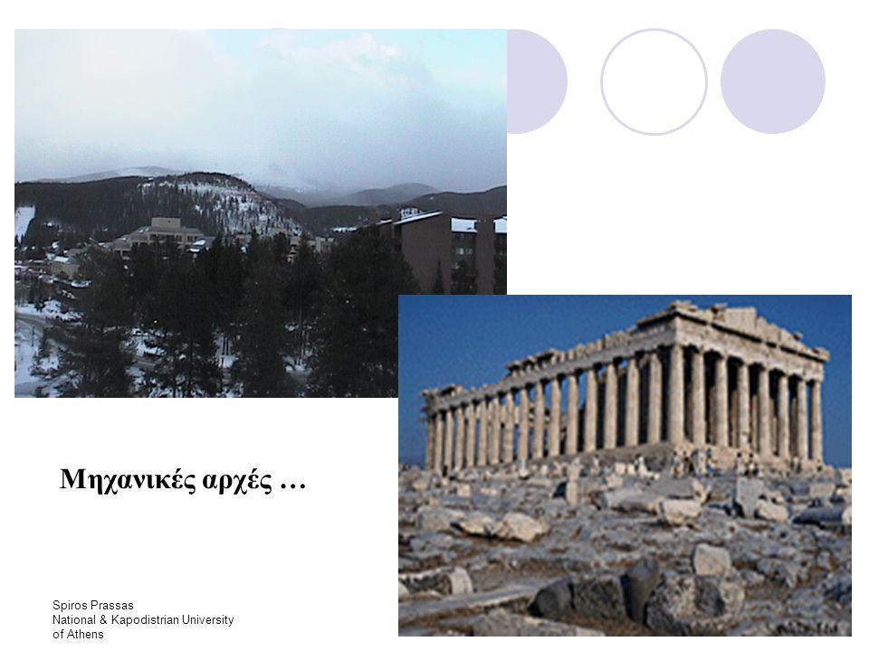 Spiros Prassas National & Kapodistrian University of Athens W N