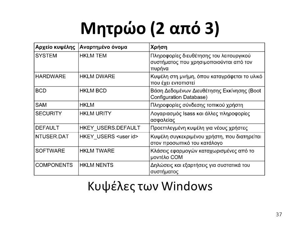 Μητρώο (2 από 3) Κυψέλες των Windows 37