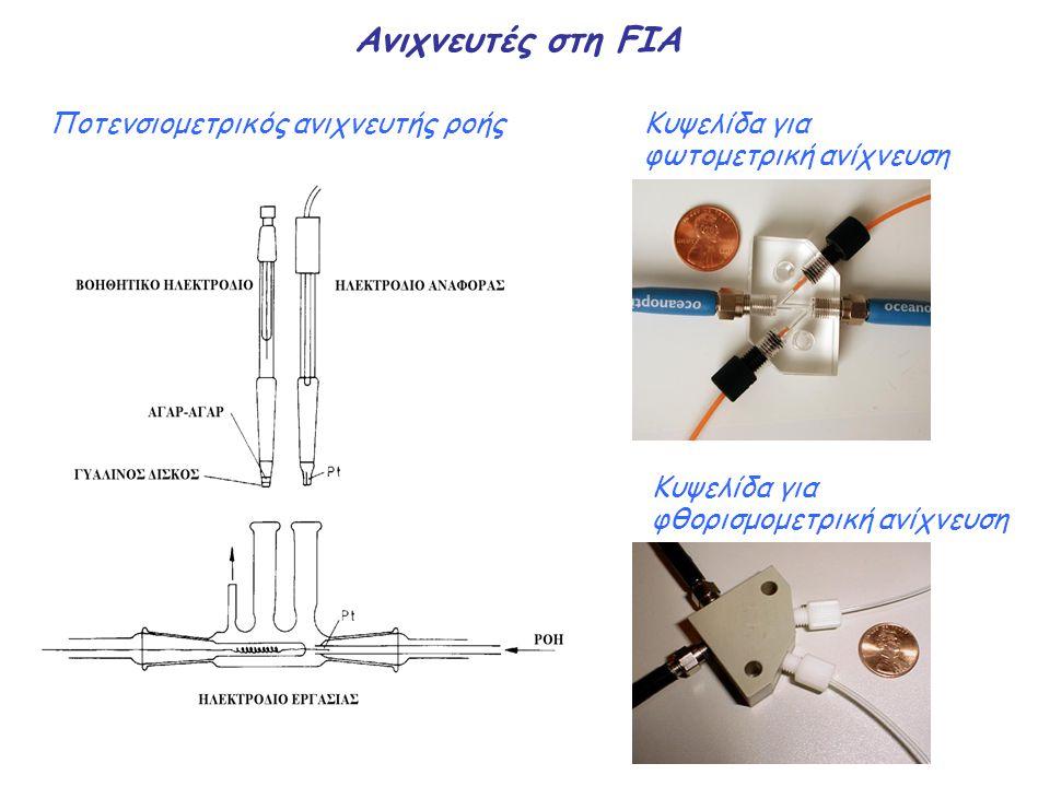 Ανιχνευτές στη FIA Ποτενσιομετρικός ανιχνευτής ροήςΚυψελίδα για φωτομετρική ανίχνευση Κυψελίδα για φθορισμομετρική ανίχνευση