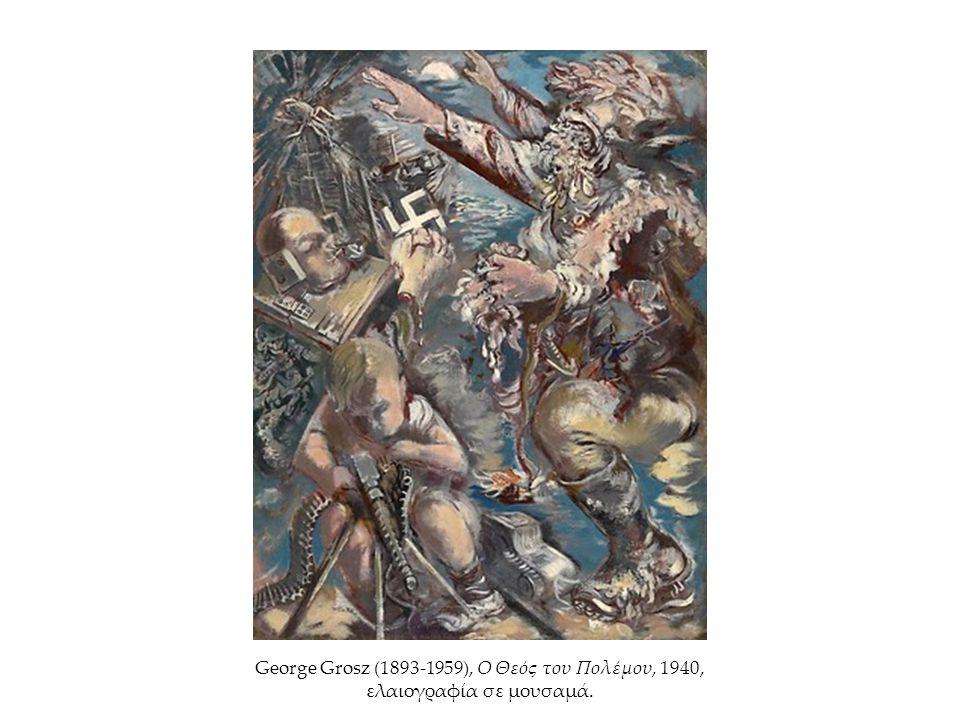 George Grosz (1893-1959), Ο Θεός του Πολέμου, 1940, ελαιογραφία σε μουσαμά.