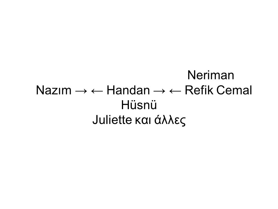 Neriman Nazım → ← Handan → ← Refik Cemal Hüsnü Juliette και άλλες