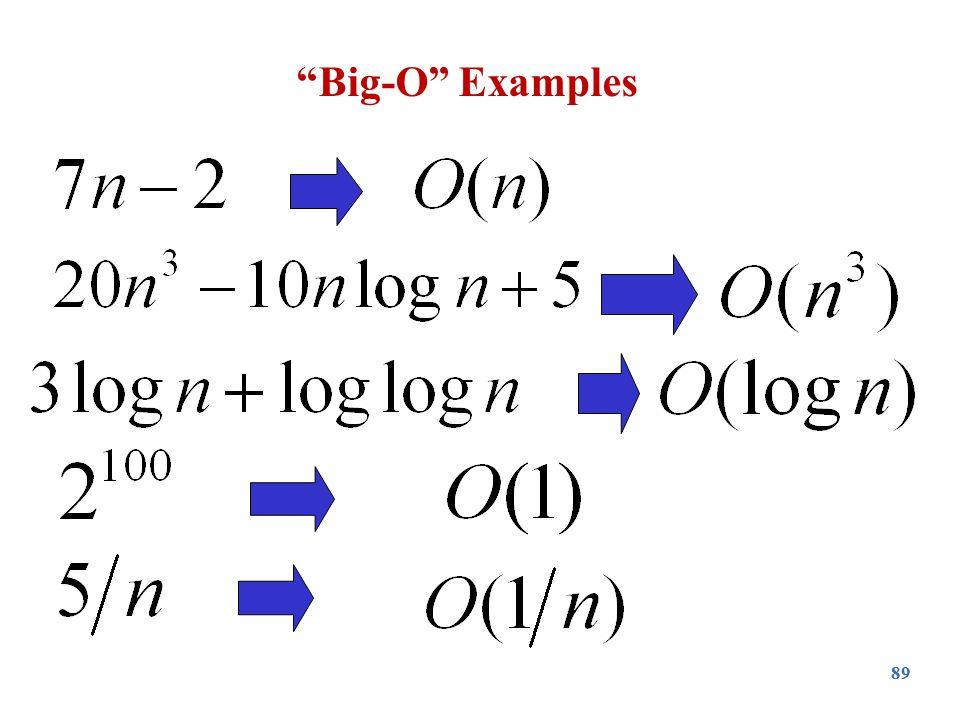 """89 """"Big-O"""" Examples"""