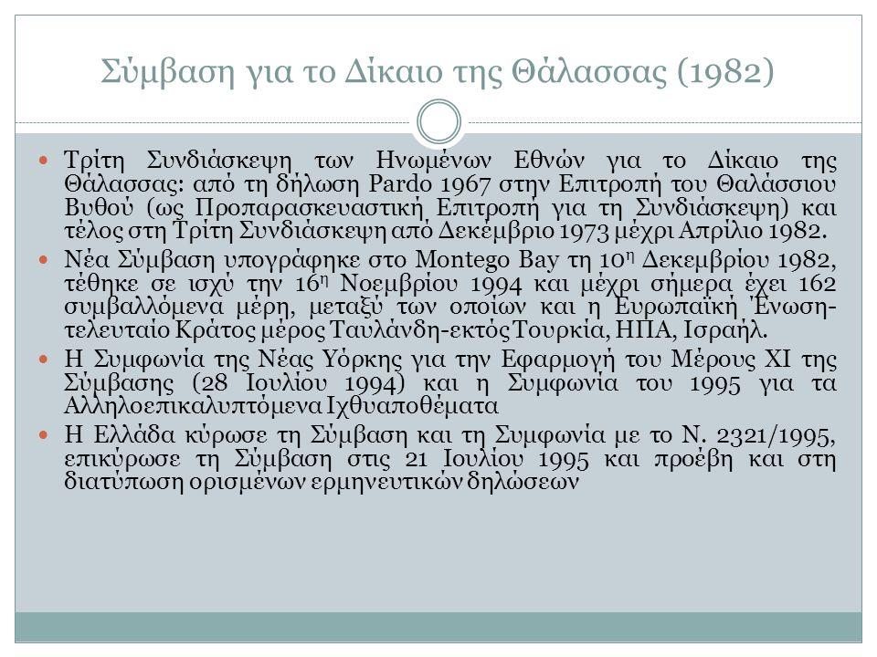 Αιγιαλίτιδα Ζώνη-Η Αιγιαλίτιδα Ζώνη της Ελλάδος Αιγιαλίτιδα Ζώνη: η ζώνη που εκτείνεται πέρα από την ξηρά και τα εσωτερικά ύδατα και επί της οποίας το παράκτιο κράτος ασκεί πλήρη κυριαρχία-κυνριαρχία πλήρης και εκτείνεται και στο βυθό και στο υπέδαφος και στον εναέριο χώρο Η αιγιαλίτιδα ζώνη εκτείνεται μέχρι 12 ν.μ.