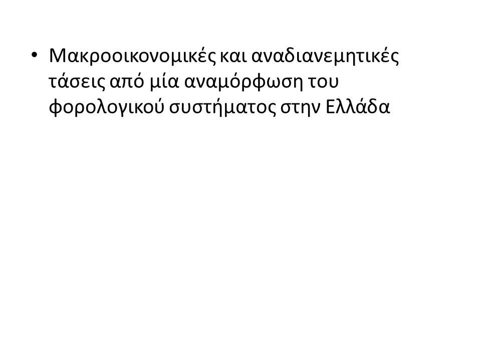Μακροοικονομικές και αναδιανεμητικές τάσεις από μία αναμόρφωση του φορολογικού συστήματος στην Ελλάδα