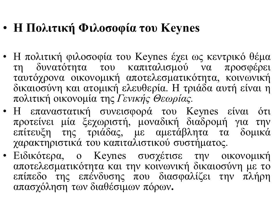 Ο Keynes σημειώνει επίσης το εξής.