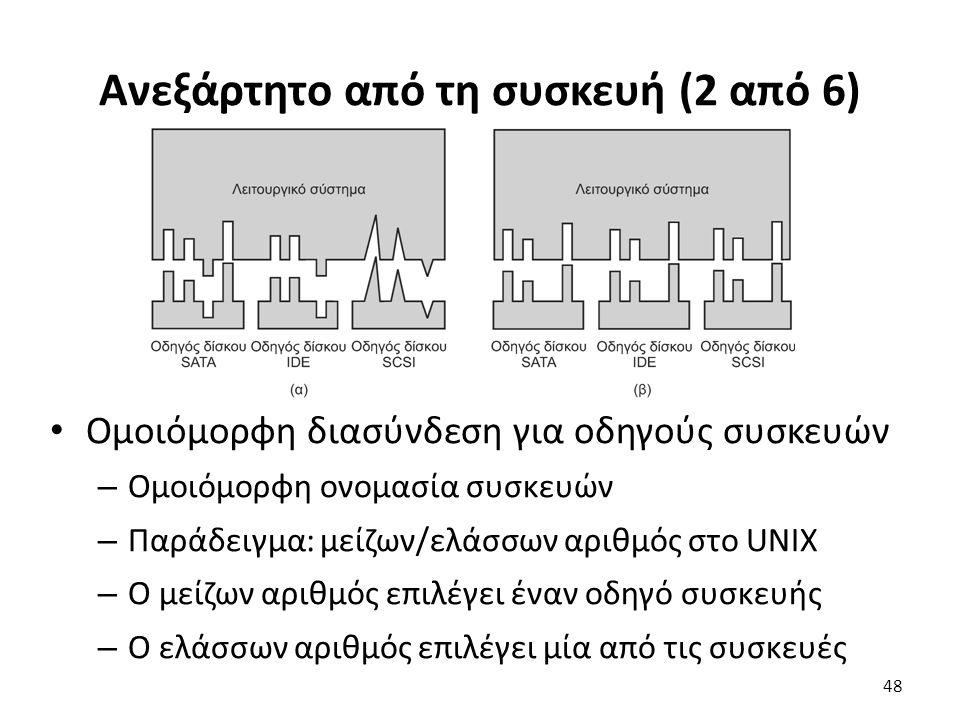 Ανεξάρτητο από τη συσκευή (2 από 6) Ομοιόμορφη διασύνδεση για οδηγούς συσκευών – Ομοιόμορφη ονομασία συσκευών – Παράδειγμα: μείζων/ελάσσων αριθμός στο