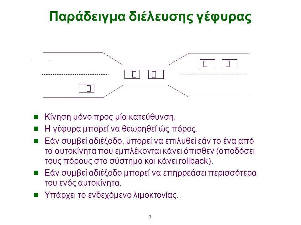 3 Παράδειγμα διέλευσης γέφυρας Κίνηση μόνο προς μία κατεύθυνση.