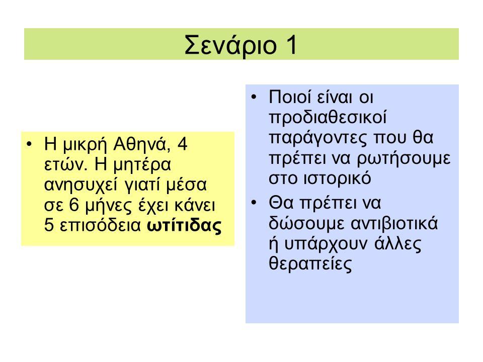 Παράγοντες Κινδύνου -1 Παιδικός Σταθμός Αυξημένη συχνότητα ΟΜΩ αλλά πιθανή προστατευτική δράση έναντι ιώσεων στα πρώτα σχολικά χρόνια Κάπνισμα Αυξημένη συχνότητα ΟΜΩ Θηλασμός vs Μποτίλια Χαμηλότερη συχνότητα ΟΜΩ όταν η μητέρα θηλάζει (αντιμικροβιακοί παράγοντες και έτοιμα αντισώματα στο μητρικό γάλα αλλεργία στο γάλα σκόνης)