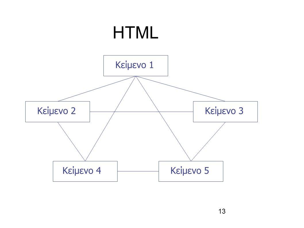 13 HTML Κείμενο 1 Κείμενο 2Κείμενο 3 Κείμενο 4Κείμενο 5