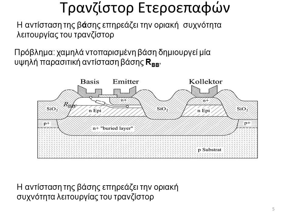 Τρανζίστορ Ετεροεπαφών Ισοδύναμο κύκλωμα : σύνδεση κοινής βάσης 6