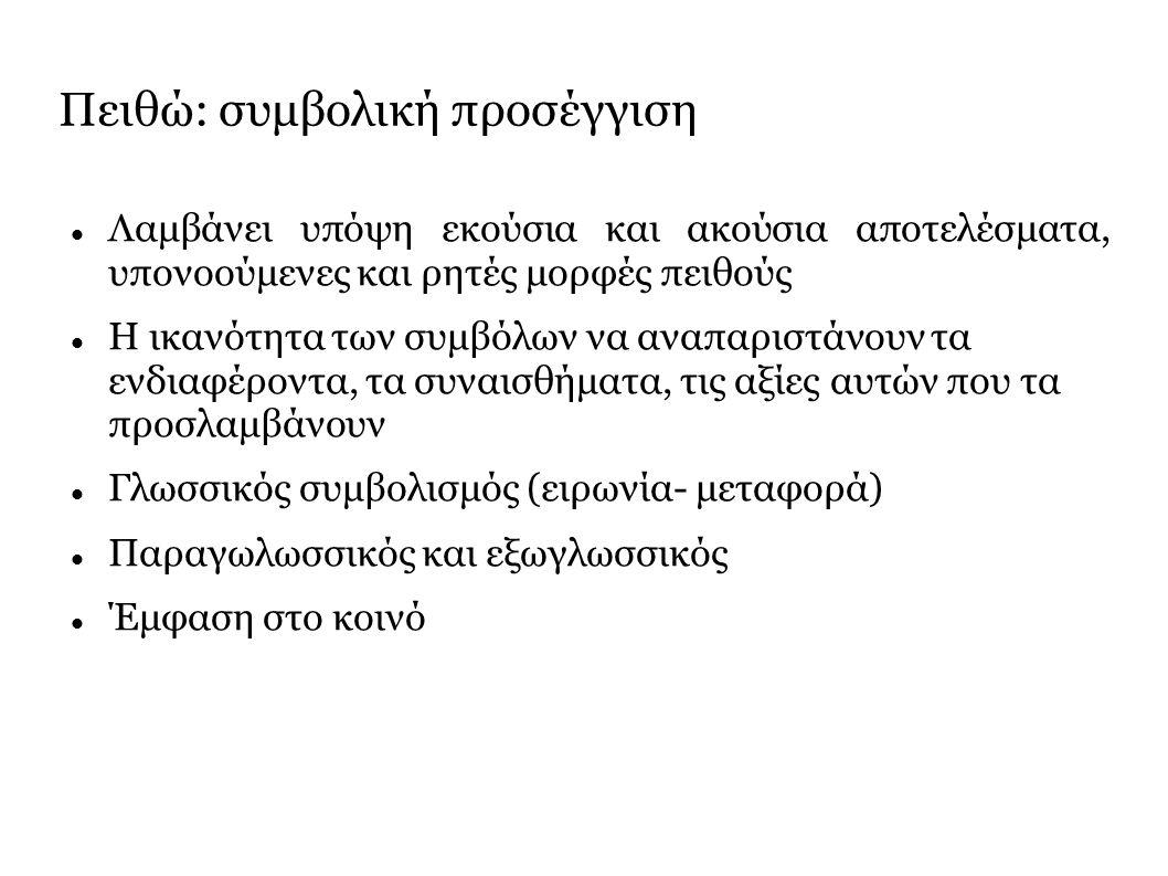 Τρόποι λόγου/ είδη αφήγησης 1.Κλασσική Αφήγηση 2.