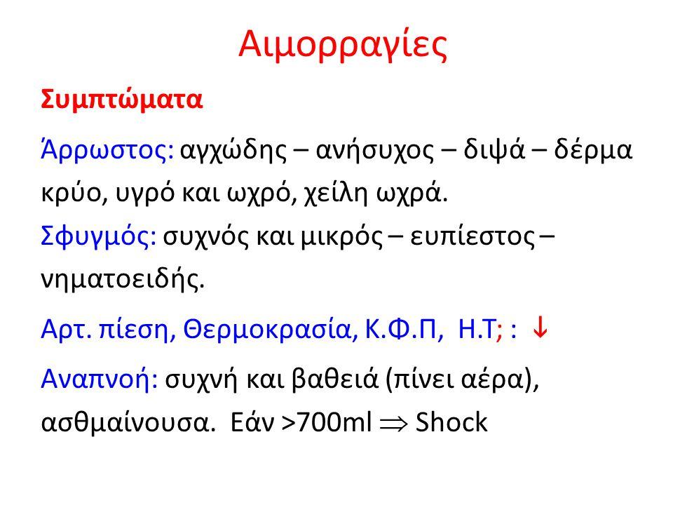 Αρτηριογραφία: έμβολο Η.Κ.Γ: Ρ, σύνδρομο S Ι,Q III, Τ III και φλεβοκομβική ταχυκαρδία.