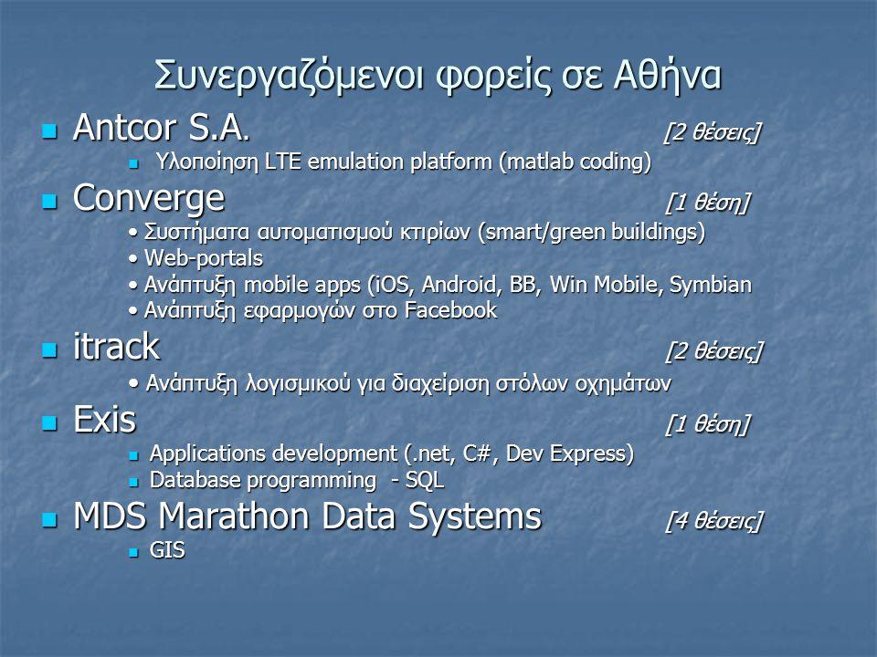 Συνεργαζόμενοι φορείς σε Αθήνα Antcor S.A. [2 θέσεις] Antcor S.A.