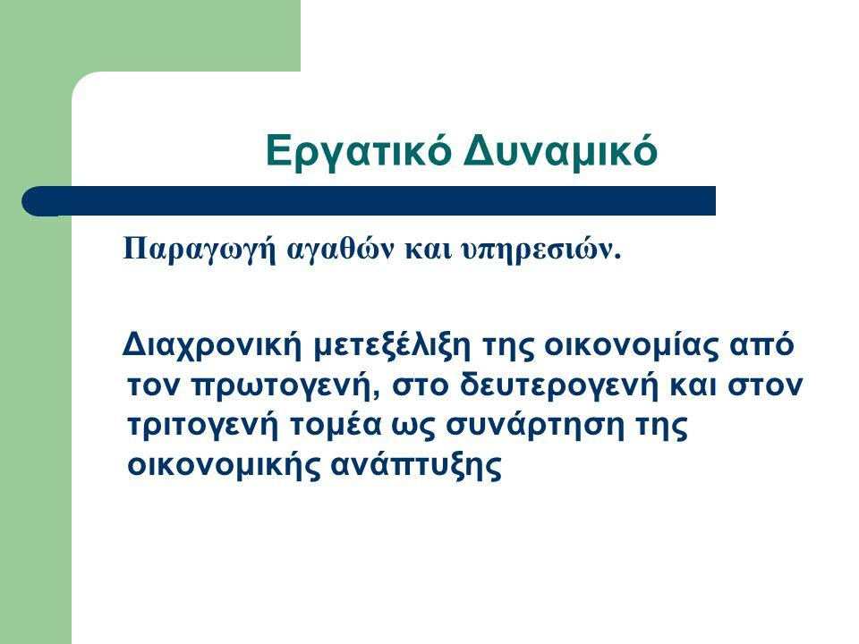Εργατικό Δυναμικό Ο Ο.Ε.Π.συγκεντρώνεται ως εξής: 1.