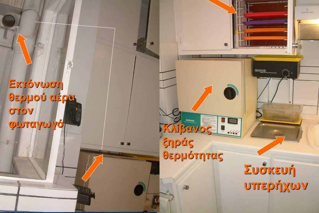  G. Angelopoulos Συσκευή υπερήχων Κλίβανος ξηράς θερμότητας Εκτόνωση θερμού αέρα στον φωταγωγό