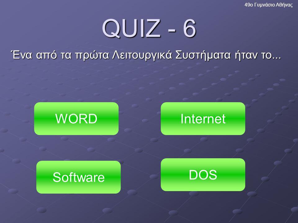Πολύ σωστά! Τα videogames είναι κι αυτά μέρος του λογισμικού εφαρμογών 49ο Γυμνάσιο Αθήνας Επόμενη ερώτηση