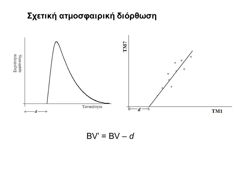 Σχετική ατμοσφαιρική διόρθωση BV' = BV – d