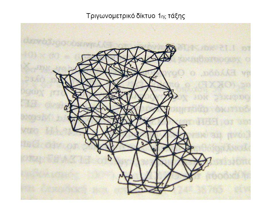 Τριγωνομετρικό δίκτυο 1 ης τάξης
