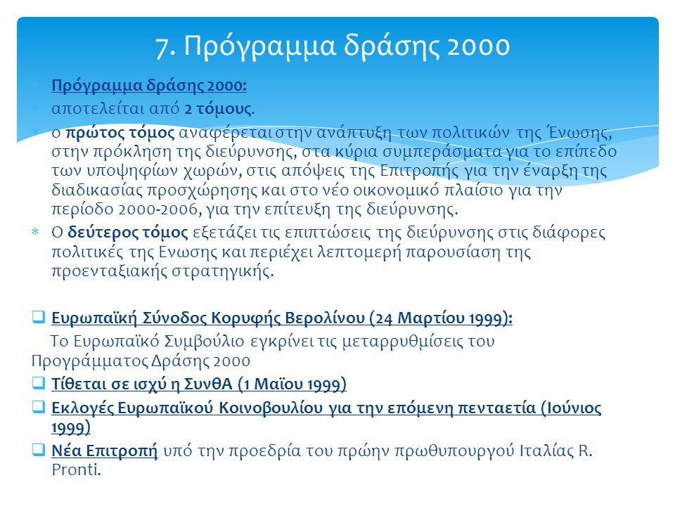  Πρόγραμμα δράσης 2000:  αποτελείται από 2 τόμους.