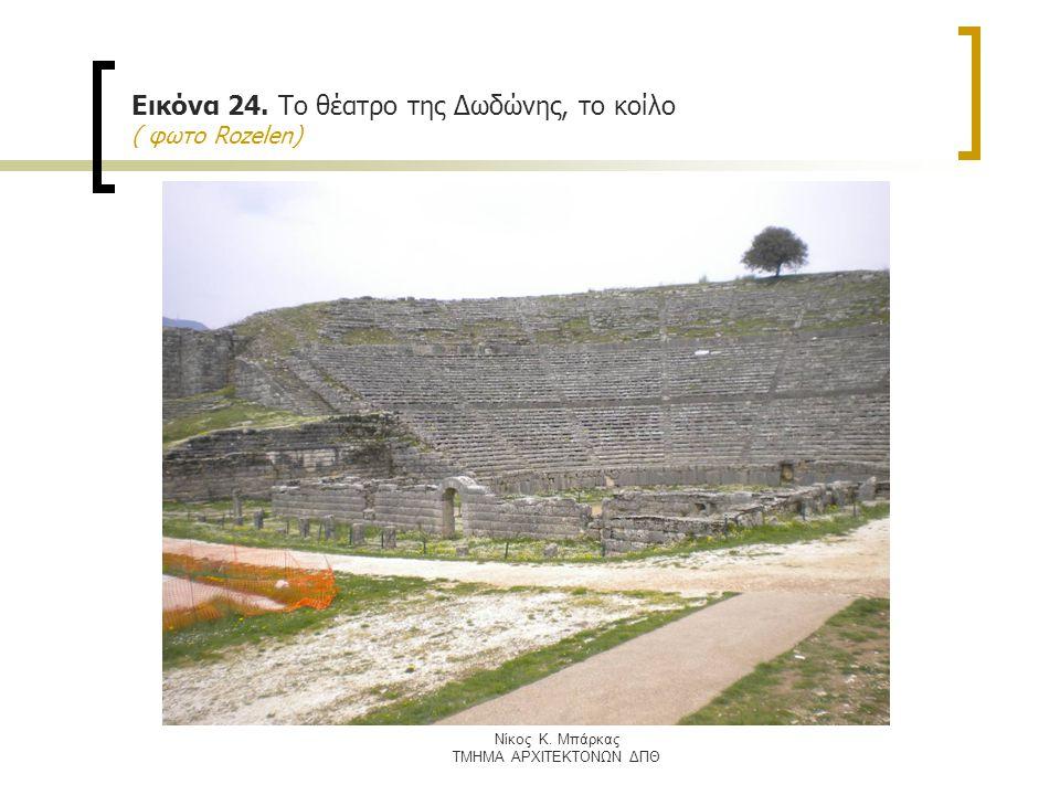 Nίκος Κ. Μπάρκας ΤΜΗΜΑ ΑΡΧΙΤΕΚΤΟΝΩΝ ΔΠΘ Εικόνα 24. Το θέατρο της Δωδώνης, το κοίλο ( φωτο Rozelen)
