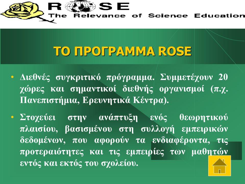 ΤΟ ΠΡΟΓΡΑΜΜΑ ROSE Διεθνές συγκριτικό πρόγραμμα.