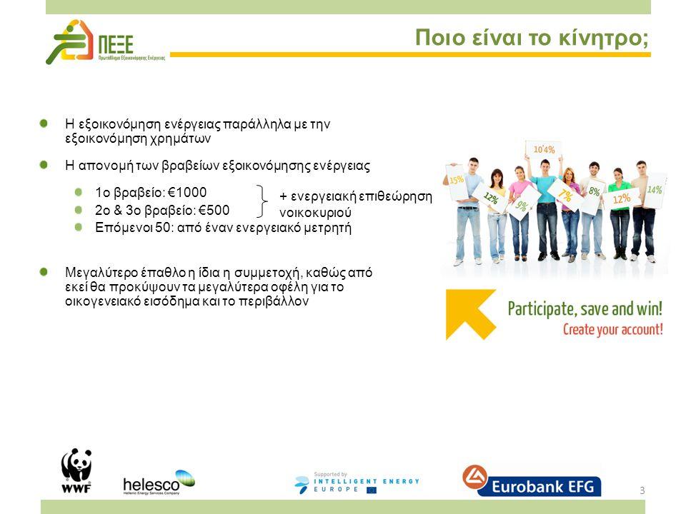 4 Πώς λειτουργεί το Π.ΕΞ.Ε.; Διαγωνισμός σε δύο επίπεδα: Ένα νοικοκυριό θα αναδειχθεί νικητής σε τοπικό/εθνικό επίπεδο Ένα κράτος θα αναδειχθεί νικητής σε ευρωπαϊκό επίπεδο Ο διαγωνισμός θα διαρκέσει 12 μήνες Ολοκληρώνεται στις 30 Μαΐου 2012 Δυνατότητα ένταξης διαγωνιζόμενων έως τον Μάιο του 2012 Κάθε διαγωνιζόμενο νοικοκυριό λαμβάνει πρόσβαση στο ESA, το εργαλείο αξιολόγησης και μέτρησης της εξοικονόμησης