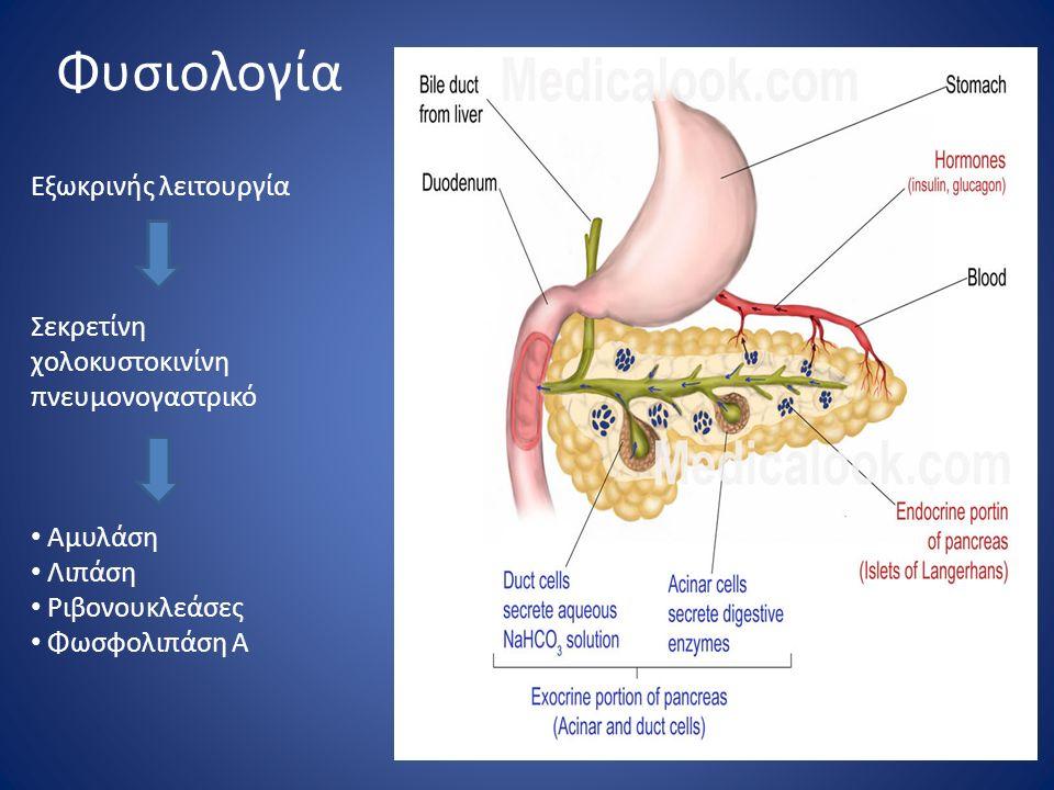 Ποσοτική Αξιολόγηση Αμυλάσης < 500 UI\dl Πιθανή παγκρεατίτιδα ή οποιαδήποτε άλλη κοιλιακή πάθηση 500-1000 UI\dl Όχι οπωσδήποτε παγκρεατίτιδα θρόμβωση μεσεντέριων αγγείων Ειλεός με νέκρωση εντέρου >1000 UI\dl Παγκρεατίτιδα (99,9%)