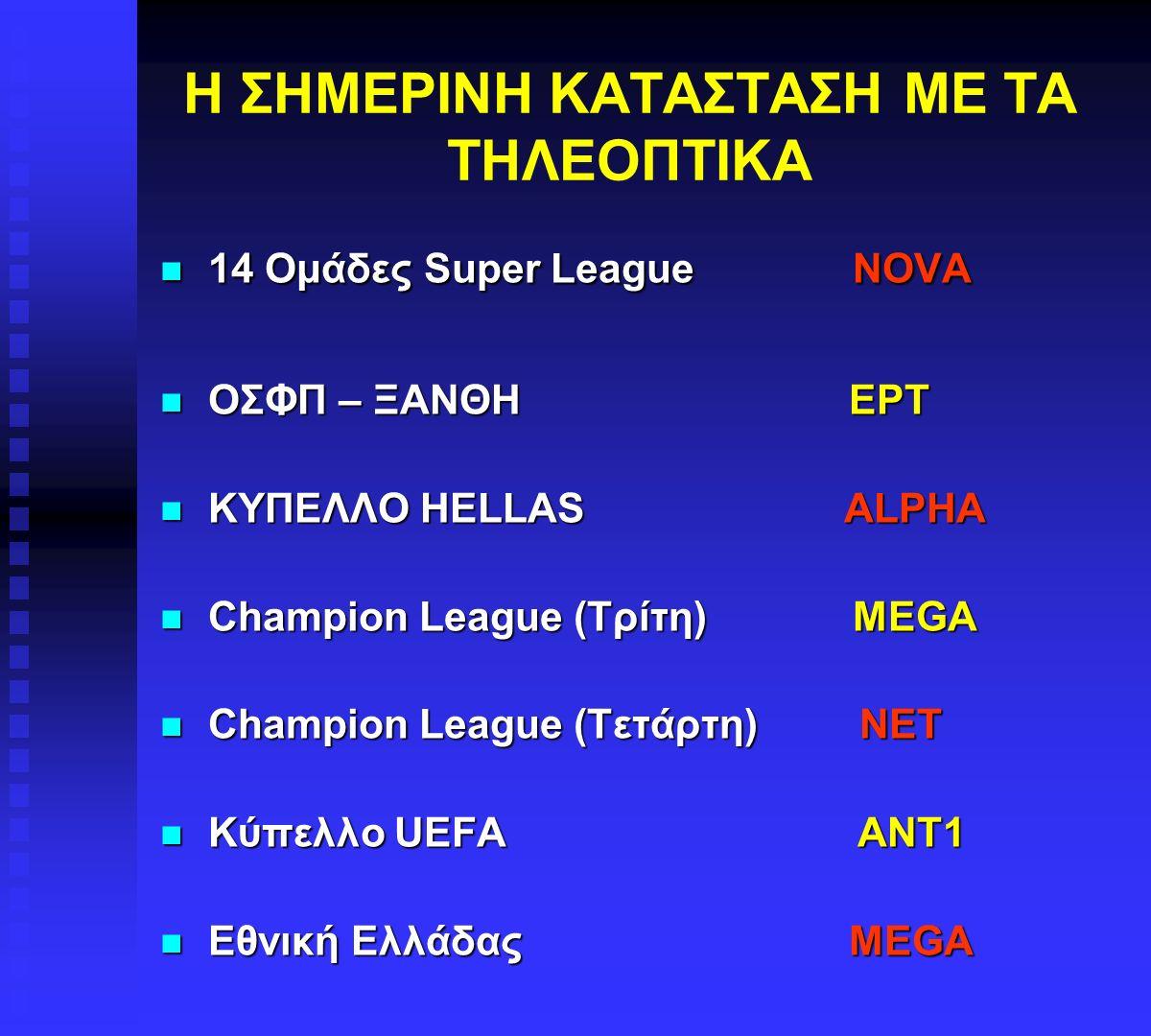 ΕΥΡΩΠΑΙΚΟΙ ΑΓΩΝΕΣ  Στους Ευρωπαϊκούς αγώνες οι ομάδες μπορούν να διαπραγματεύονται με τα διάφορα κανάλια τις συμφωνίες.