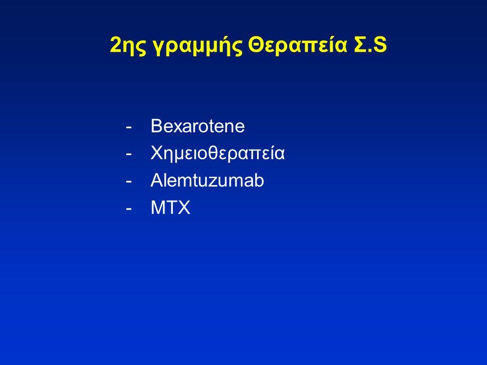 2ης γραμμής Θεραπεία Σ.S -Bexarotene -Χημειοθεραπεία -Alemtuzumab -MTX