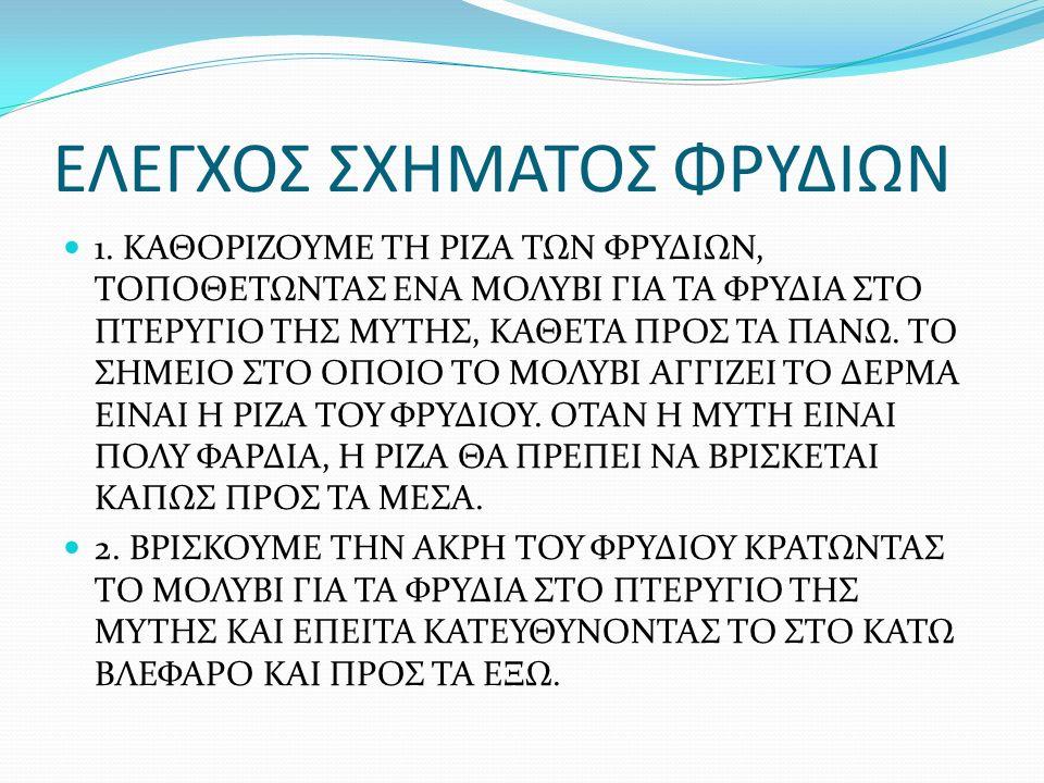 ΕΛΕΓΧΟΣ ΣΧΗΜΑΤΟΣ ΦΡΥΔΙΩΝ 1.