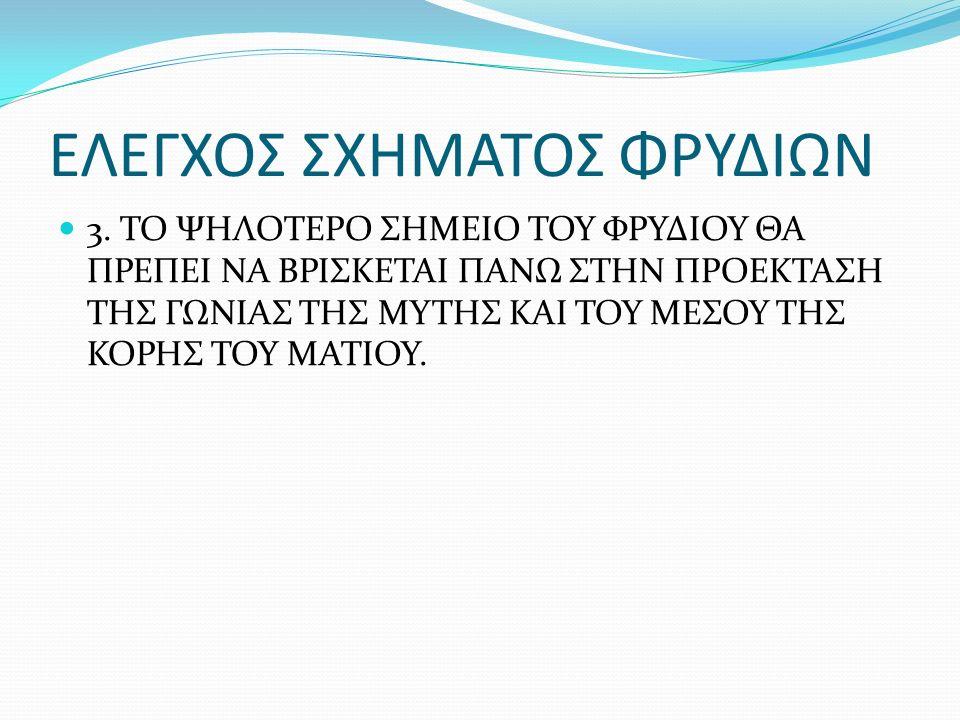 ΕΛΕΓΧΟΣ ΣΧΗΜΑΤΟΣ ΦΡΥΔΙΩΝ 3.