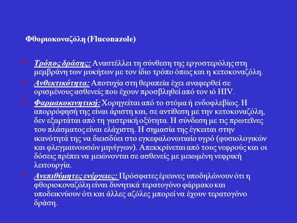 Ιτρακοvαζόλη (Itraconazole)  Είναι το σύγχρονο φάρμακο εκλογής για τη θεραπεία της βλαστομυκητίασης.