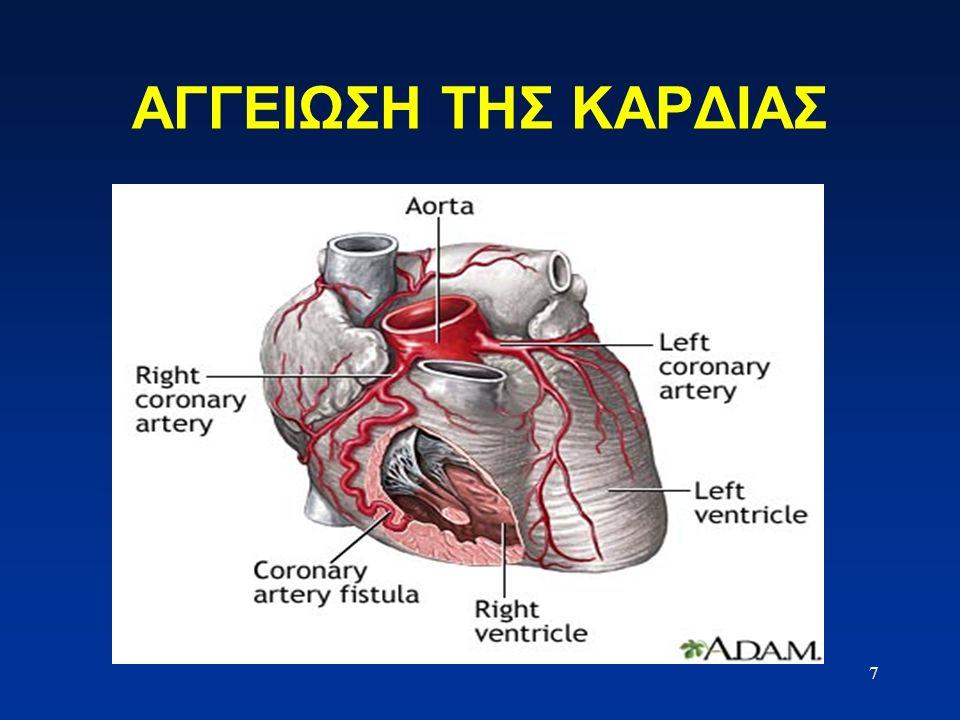 Το Κυκλοφορικό Σύστημα 8 Οξυγονωμένο αίμα Μη οξυγονωμένο αίμα Η καρδιά αποτελείται από δύο ξεχωριστές αντλίες : 1.Η δεξιά καρδιά διοχετεύει το αίμα μέσα από τους πνεύμονες 2.Η αριστερή καρδιά διοχετεύει το αίμα μέσα από τα περιφερειακά όργανα του σώματος