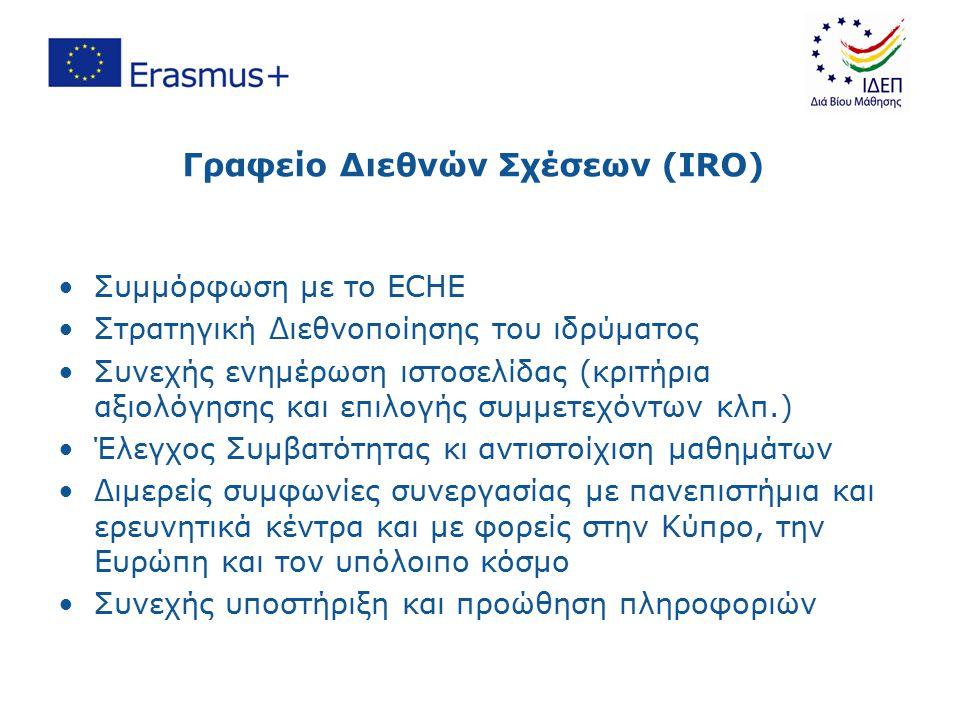 Άλλα θέματα(2/2) Η επικοινωνία με το Ίδρυμα Διαχείρισης Ευρωπαϊκών Προγραμμάτων Διά Βίου Μάθησης που αφορά στη Συμφωνία θα πρέπει να γίνεται γραπτώς (σε ηλεκτρονική ή γραπτή μορφή) και να αναφέρεται ο κωδικός της Συμφωνίας Οι Λειτουργοί των IRO να παρακολουθούν την ιστοσελίδα και το Facebook του ΙΔΕΠ για ενημέρωση Παρακολούθηση και έλεγχος όπου θεωρείται αναγκαίο Ερωτηματολόγιο ικανοποίησης δικαιούχων Να προσκαλείτε το ΙΔΕΠ σε εκδηλώσεις