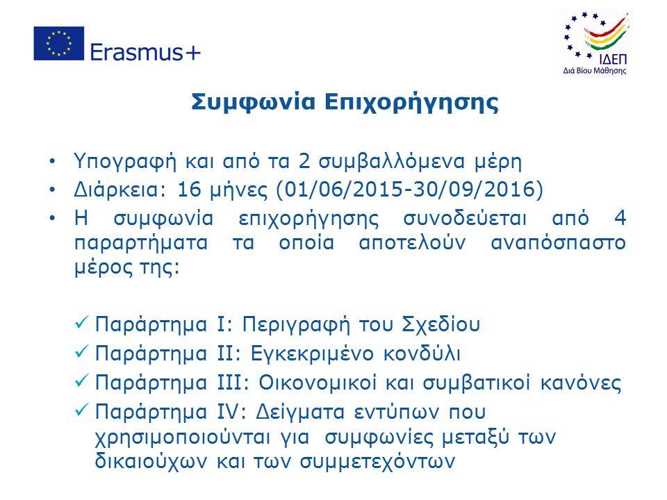 Συμβόλαια με τους Δικαιούχους Φοιτητές για σπουδές/πρακτική άσκηση Τα 2 Ιδρύματα να έχουν ECHE Μεταξύ του Ιδρύματος αποστολής και του Ιδρύματος υποδοχής θα πρέπει να υπογραφεί Inter-institutional Agreement πριν την έναρξη της κινητικότητας Η Σύμβαση Κινητικότητας ή η Σύμβαση Πρακτικής Άσκησης (Grant Agreement) να υπογράφονται πριν από την κινητικότητα (Annex IV) Η Συμφωνία Eκμάθησης (Learning Agreement) να υπογράφεται πριν από την κινητικότητα Οι Συμφωνίες που υπογράφετε με τους συμμετέχοντες (Annex IV) μπορούν να τροποποιηθούν ανάλογα Erasmus Student Charter