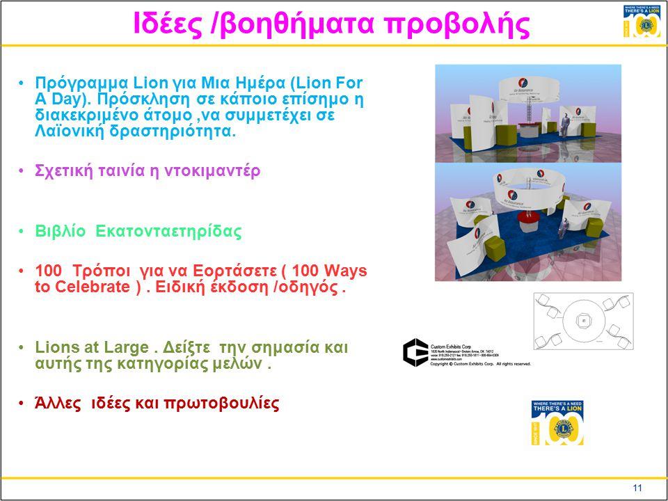 11 Ιδέες /βοηθήματα προβολής Πρόγραμμα Lion για Μια Ημέρα (Lion For A Day).