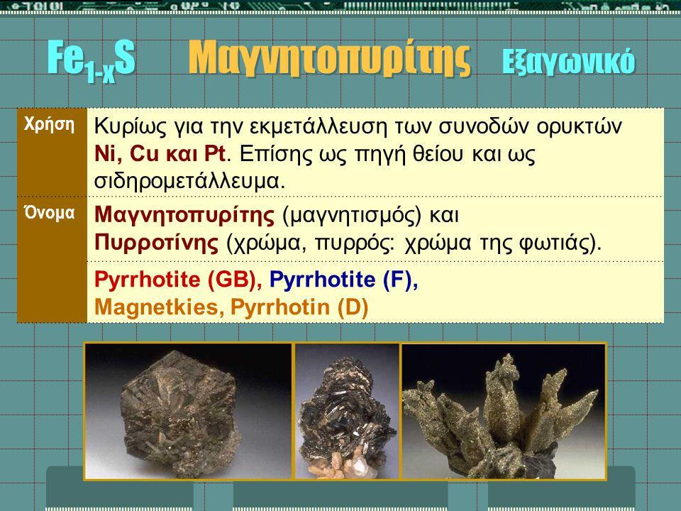 Χρήση Κυρίως για την εκμετάλλευση των συνοδών ορυκτών Ni, Cu και Pt. Επίσης ως πηγή θείου και ως σιδηρομετάλλευμα. Όνομα Μαγνητοπυρίτης (μαγνητισμός)