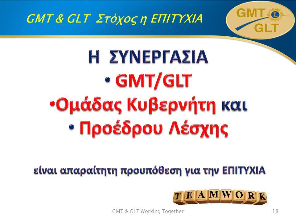 GMT & GLT Στόχος η ΕΠΙΤΥΧΙΑ GMT & GLT Working Together18