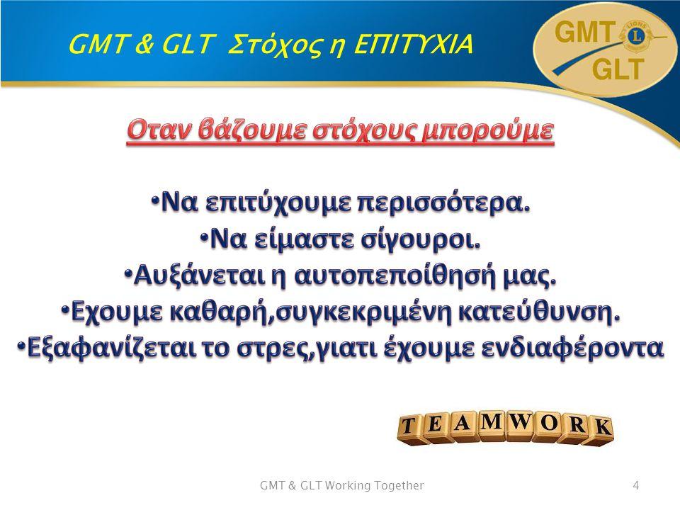 GMT & GLT Στόχος η ΕΠΙΤΥΧΙΑ GMT & GLT Working Together4