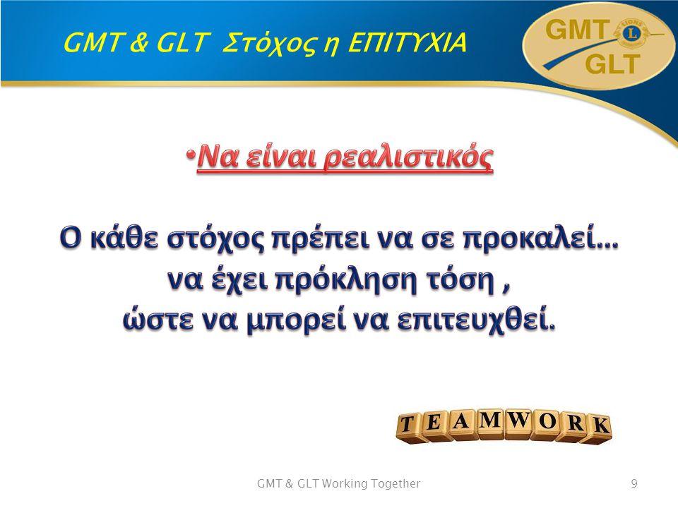 GMT & GLT Στόχος η ΕΠΙΤΥΧΙΑ GMT & GLT Working Together9