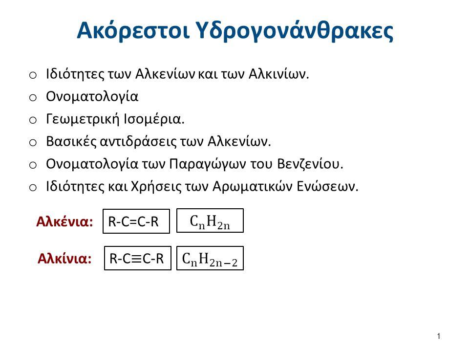 Διαφορές στην Γεωμετρία Αλκάνια Αλκένια Αλκίνια 2