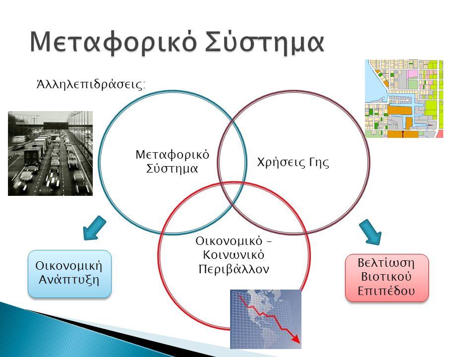 Οι δραστηριότητες αλλά ζουν με το χρόνο Η χωρική διασπορά – δομή των δραστηριοτήτων καθορίζεται από τις χρήσεις γης.