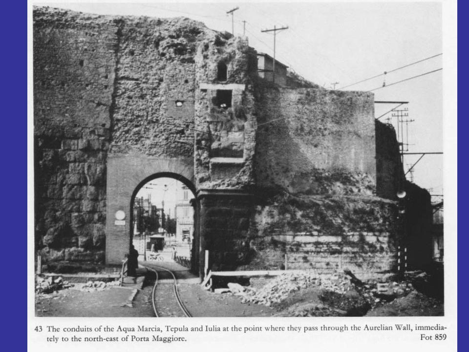 O τοίχος που χώριζε το forum του Αυγούστου από τη Subura