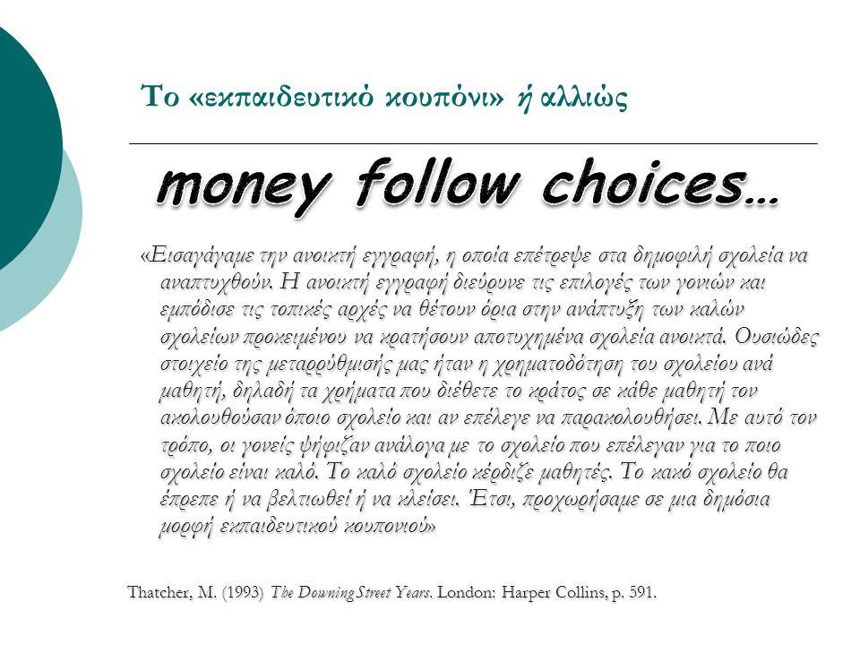 Πολιτικές προεκτάσεις oΗ κοινωνία των πολιτών μετατρέπεται σε κοινωνία καταναλωτών.