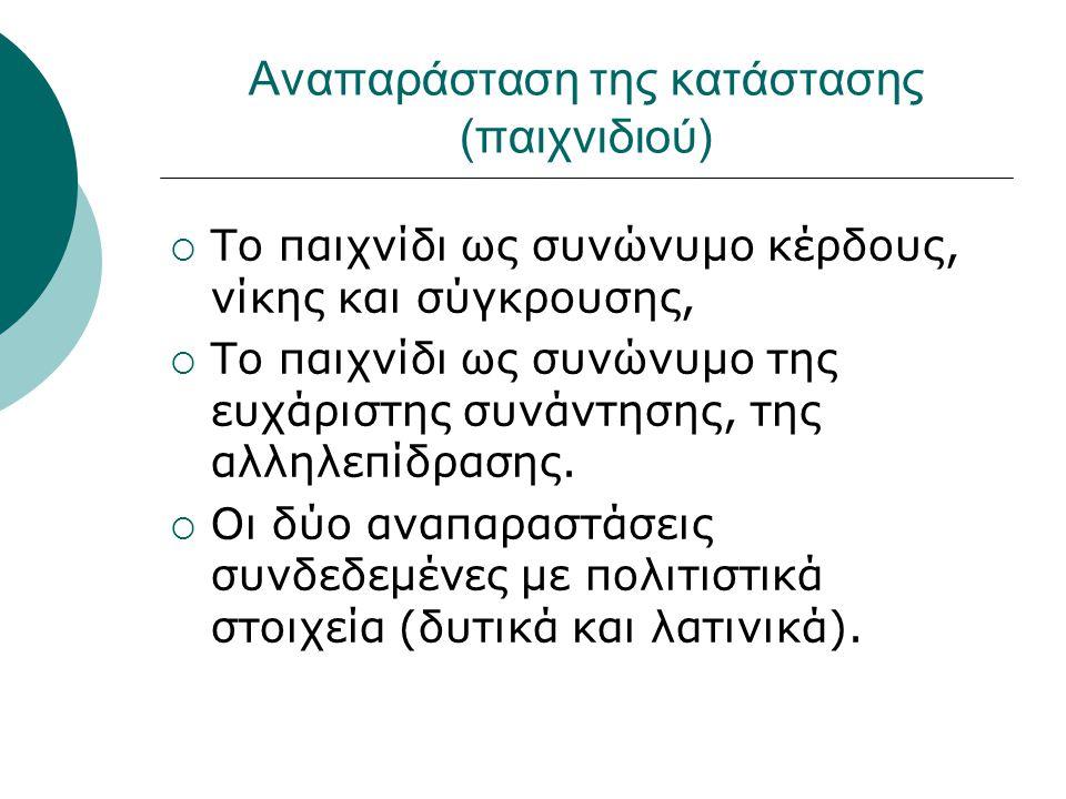 Χρήση εκφώνησης  Η εκφώνηση ως μέσο εισαγωγής ή ελέγχου των διαφορετικών στοιχείων της κατάστασης,  Η «αμφίεση» της κατάστασης, ο τρόπος που παρουσιάζεται η κατάσταση.