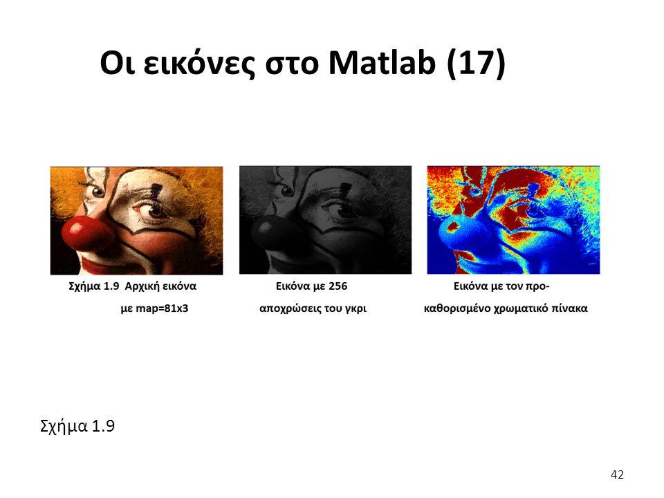 Σχήμα 1.9 Οι εικόνες στο Matlab (17) 42
