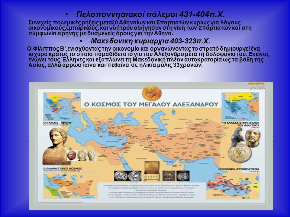 Πελοποννησιακοί πόλεμοι 431-404π.Χ.